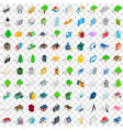 100 comfortable house icons set isometric style vector image vector image