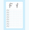 alphabet letters tracing worksheet vector image vector image