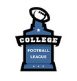 american football college league logo vector image vector image