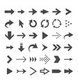 arrow web icons isolated cursor arrows download vector image vector image