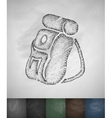 backpack icon Hand drawn vector image vector image