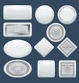 badge souvenir mockup set realistic style vector image