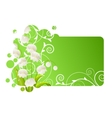 beautiful frame with lily of the valley vector image vector image