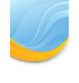 Blue folder template - orange swoosh vector image vector image