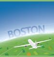 boston flight destination vector image vector image