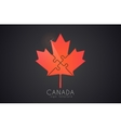 canada logo maple leaf symbol vector image