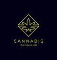 cannabis line art logo icon vector image vector image