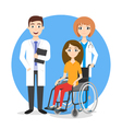 care for disabled vector image