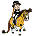 cartoon dressage vector image vector image