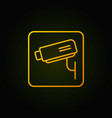 cctv linear yellow icon or symbol vector image vector image