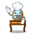chef dressing table character cartoon vector image