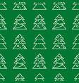 christmas seamless pattern - xmas trees vector image