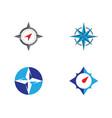 compass logo template vector image vector image
