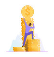 concept movement to financial success vector image vector image
