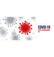 coronavirus background red virus symbol vector image vector image