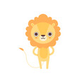 cute lion funny african animal cartoon character vector image vector image