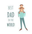 dad with son cartoon vector image