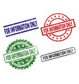 damaged textured for information only seal stamps vector image