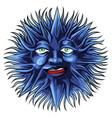 face tattoo of a sun vector image
