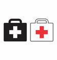 first aid suitcases vector image