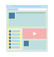 flat website template web design technology vector image