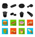 food refreshments snacks and other web icon in vector image