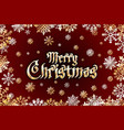gold merry christmas holiday greeting with vector image