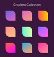 gradient sample set colorful gradients for poster vector image vector image