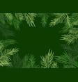 green christmas frame vector image vector image