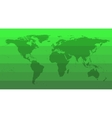 Green World Map vector image vector image
