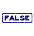 grunge blue false wording square rubber seal vector image vector image