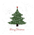 hand drawn vintage christmas tree vector image vector image