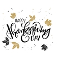 hand lettering thanksgiving greetings text vector image vector image