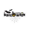 happy halloween emblem vector image