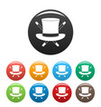 hat with a stick icons set color vector image vector image