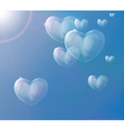 hearts soap bubbles vector image vector image