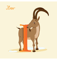 I for Ibex vector image vector image