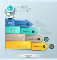 infographic design template 4 multicolored vector image vector image