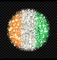 ivory coast flag sparkling badge vector image vector image