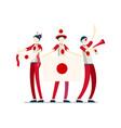 japanese flag japan people vector image vector image