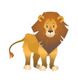 lion cartoon wild animal nature african vector image vector image