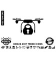 Load Cargo Drone Flat Icon With 2017 Bonus Trend