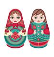 matryoshka babushka doll set vector image vector image