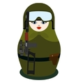Matryoshka with special forces weapon vector image vector image
