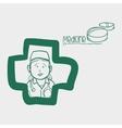 medical care design nurse icon flat vector image vector image