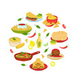 mexican traditional food banner mexican cuisine vector image vector image
