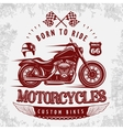 Motorcycle Grey Poster vector image vector image