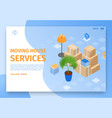 moving house services landing page vector image vector image