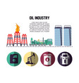 oil industry with transport vehicles vector image vector image