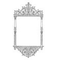 ornate frame have a face bottom this pattern vector image vector image